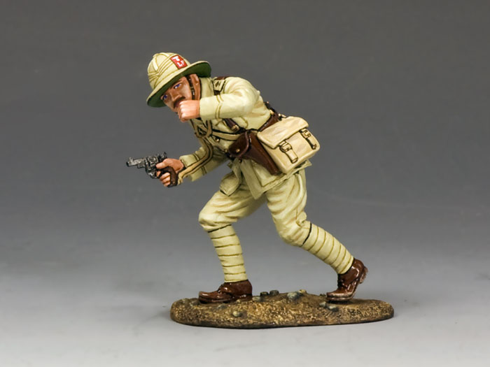 Officer w/ Pistol & Whistle (Lancashire Fusiliers, Middle East Campaign)