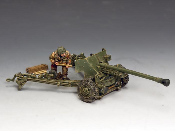 L/Sgt  John Baskeyfield V C  and his 6 pdr  Anti Tank Gun