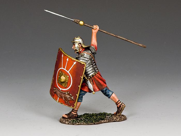 Roman Soldier Throwing Pilum