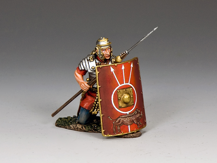 Roman Soldier Kneeling w/ Pilum