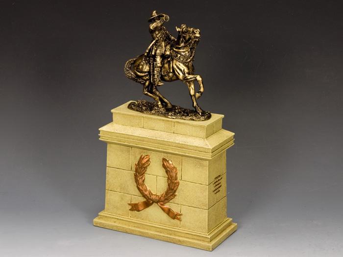 Australian Lighthorse Bugler w/ Large Equestrian Statue Plinth (SP079 + SP092)