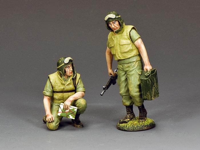 """Dismounted Armored Crew"" 2 x figures"