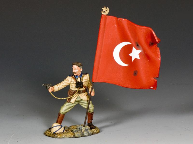 Turkish Officer w/ Flag