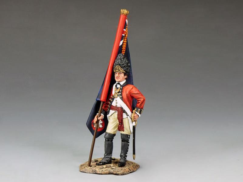 RWF Officer with Regimental Flag