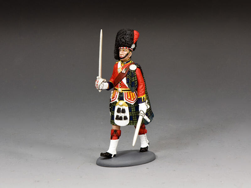 Black Watch Officer Marching
