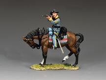 Confederate Cavalry Sergeant Firing Carbine