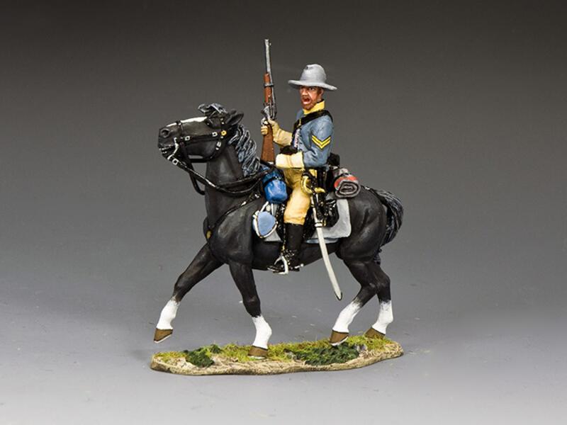 Confederate Cavalry Corporal Holding Carbine