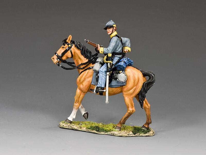 Confederate Cavalry Trooper Loading Carbine