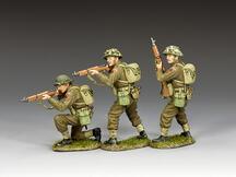 Riflemen in action Set (w/ Grass base)