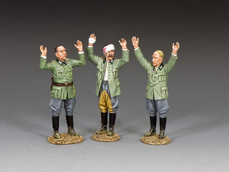 3 x Captured German Officers