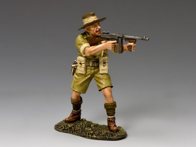 Aussie Officer w/ Tommy Gun
