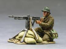 French Soldier Machine Gunner