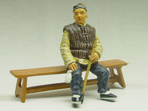 Old Man with Long Pipe
