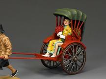 Chinese Lady Rickshaw Passenger (Gloss)