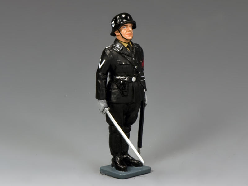 SS Officer At Attention