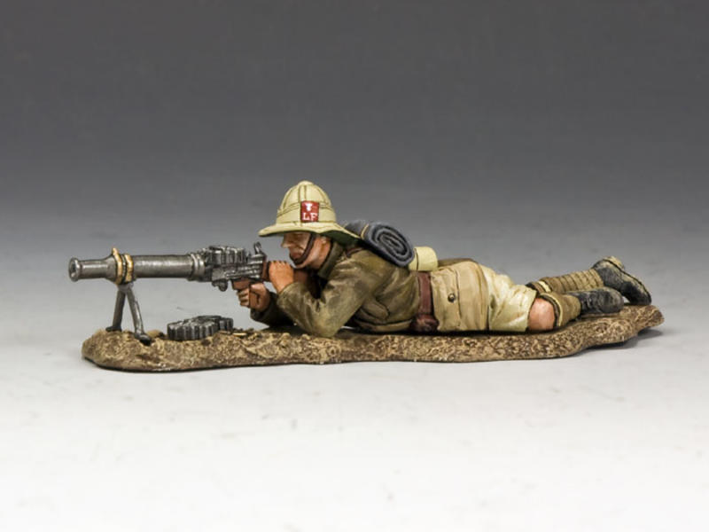 Lying Prone Lewis Gunner (Lancashire Fusiliers, Middle East Campaign)