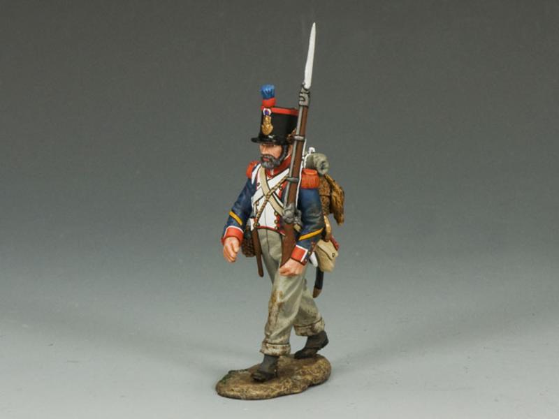 French Line Marching Rifleman (w/ beard)
