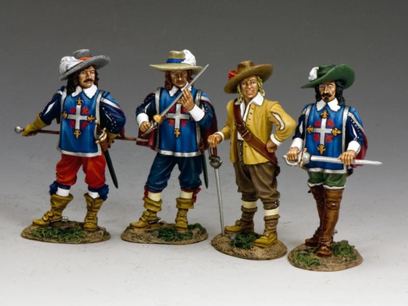 The 3 Musketeers & D'Artagnan