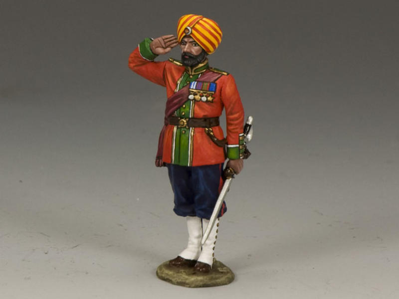 Ludhiana Sikhs Regiment Native Officer Saluting