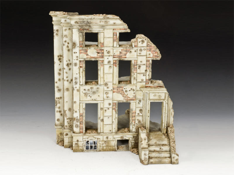 WW2 Ruined Building, diorama accessories