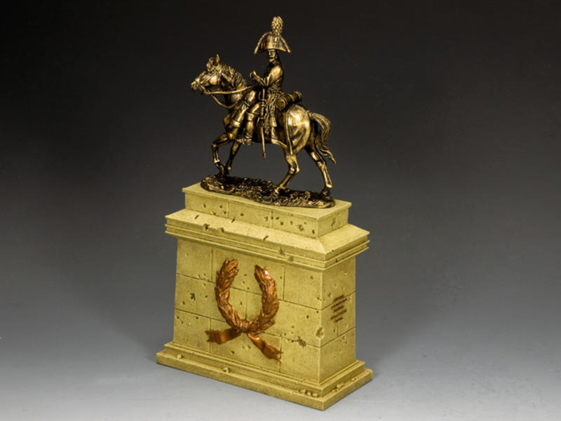 The Mounted Russian Officer on Large Equestrian Statue Plinth (SP079 + SP088)