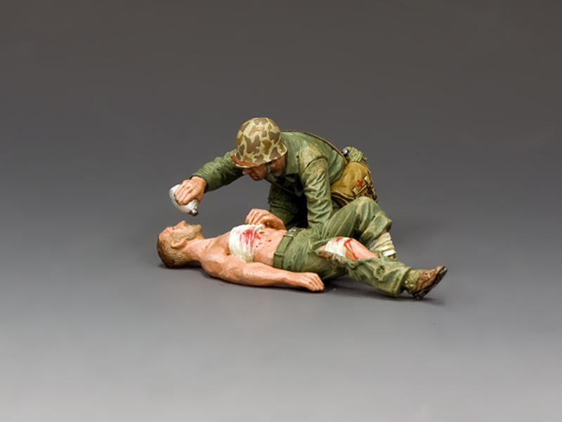 Navy Corpsman & Wounded Marine