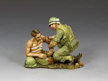 Corpsman & Wounded Marine