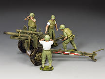 The USMC Artillery 105mm Howitzer & Crew Set
