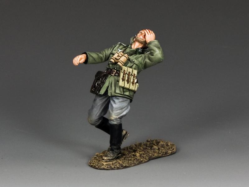 German Officer being shot