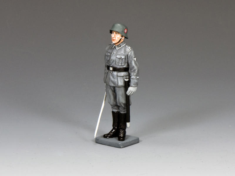 Waffen SS NCO at Attention