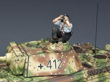 Sky-Watching Panzer Crewman
