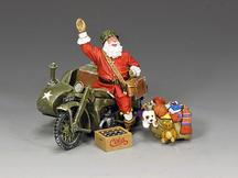 GI Santa On A Motorbike